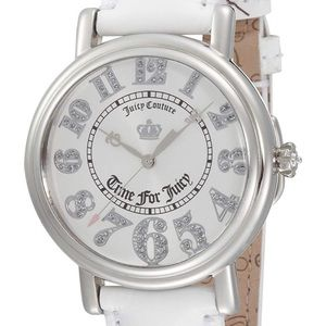 Juicy Couture White Leather Spotlight Watch